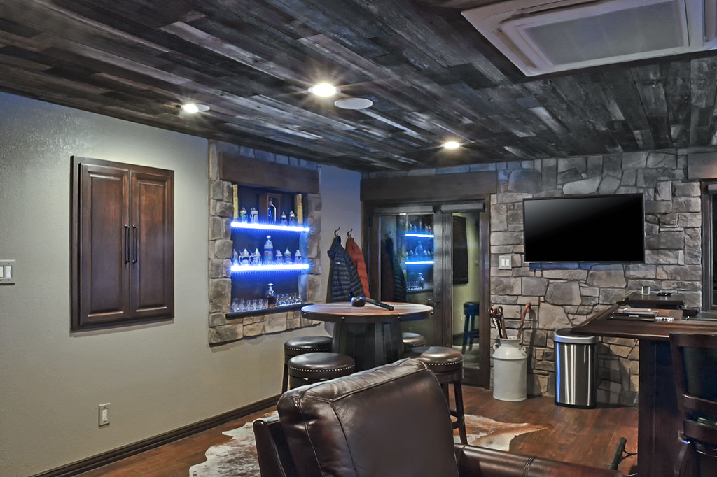 Garage Converted To Bar Lounge General Contractor Los