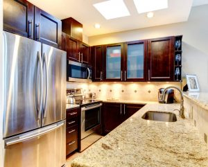 Small Kitchens With Dark Cabinets General Contractor Los Angeles